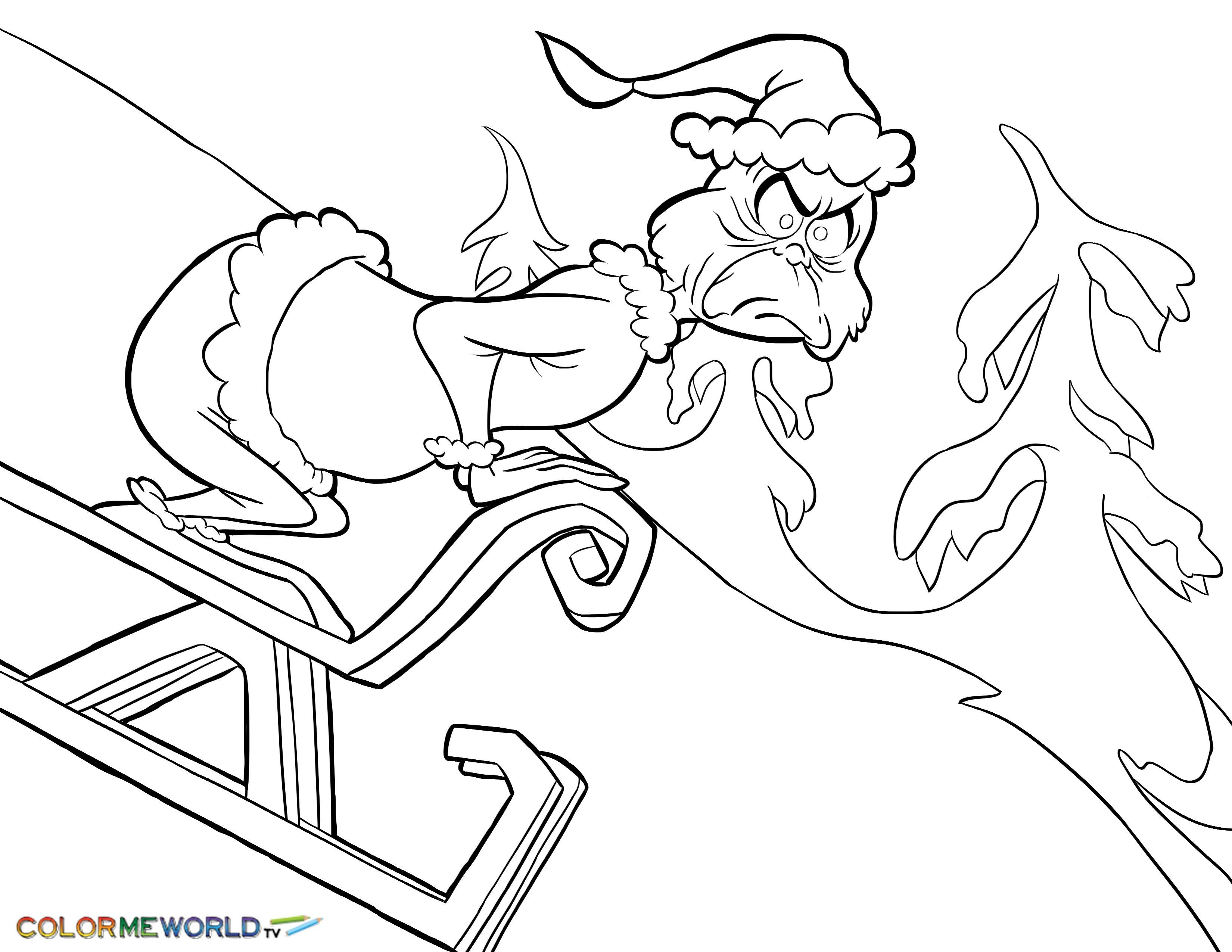 Santa Suit Coloring Page Getcoloringpages With Collection Of Grinch Pictures Download Them And Try To Solve