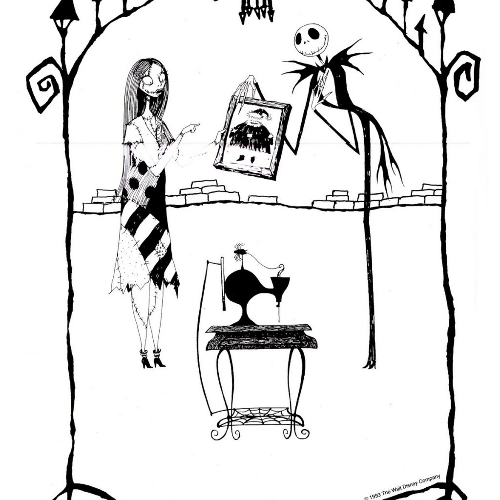 Santa Suit Coloring Page Getcoloringpages With The Nightmare Before Christmas Pages Download Free