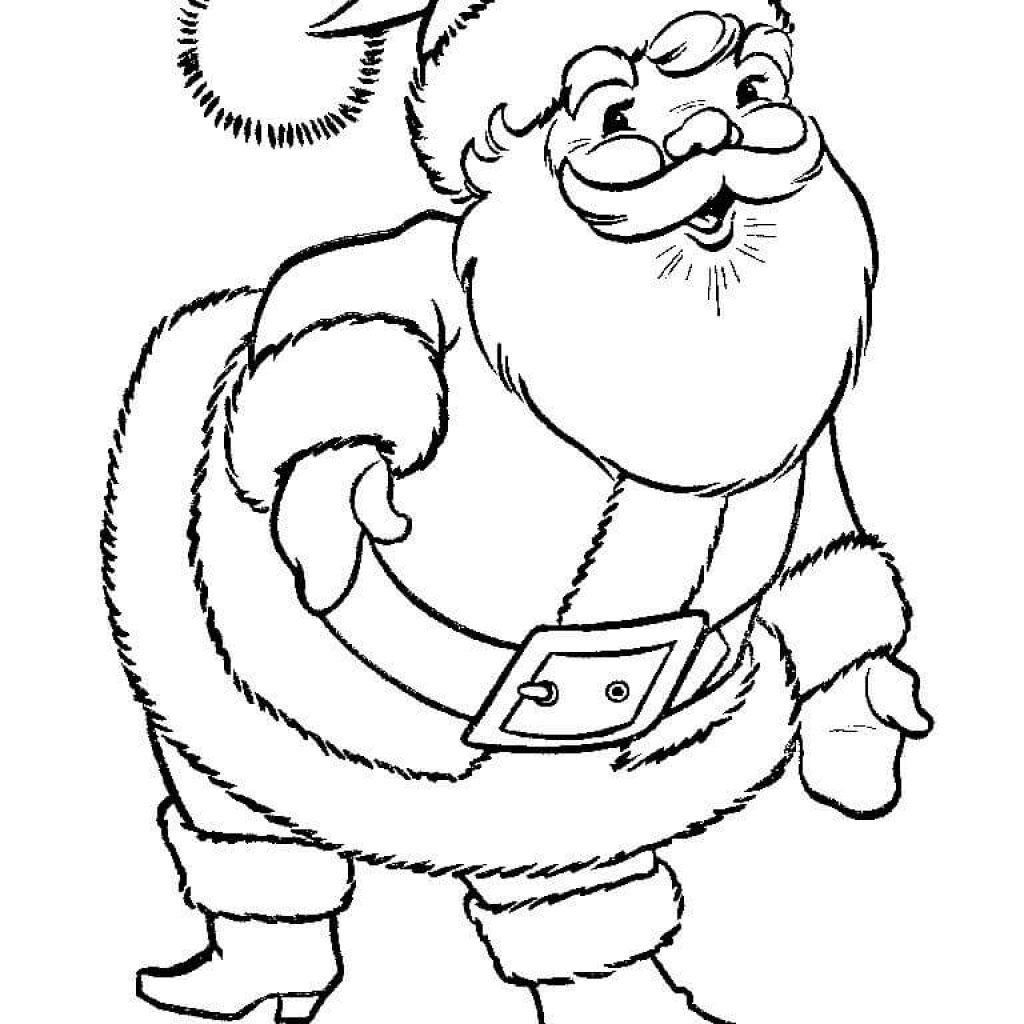 Santa Suit Coloring Page With Great Claus Free Printable Pages