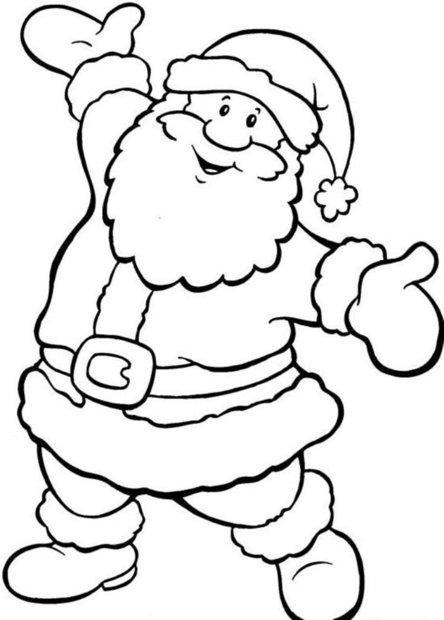 Santa To Coloring With Full Christmas Pictures Color And Print Free Colouring In