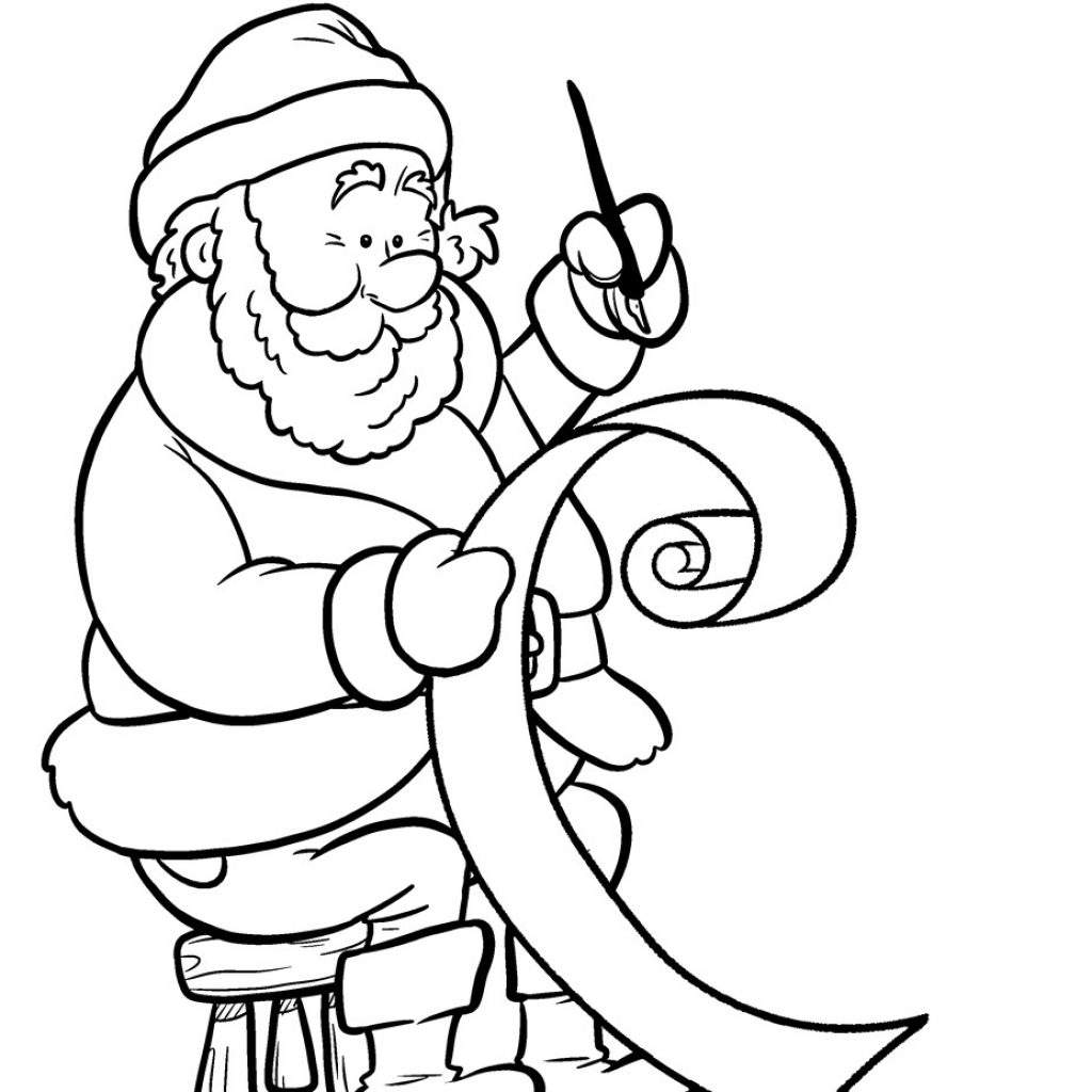 Santa To Coloring With Page Letter Nazly Me
