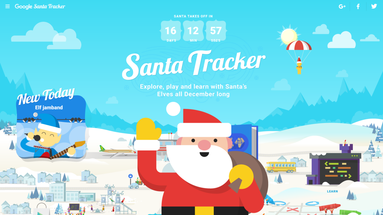 Santa Tracker Coloring With Google Gets Into The Holiday Spirit Drum