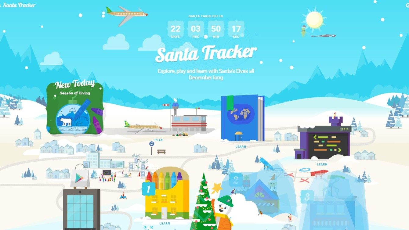 Santa Tracker Coloring With Google S Christmas Is Up And Running The Countdown