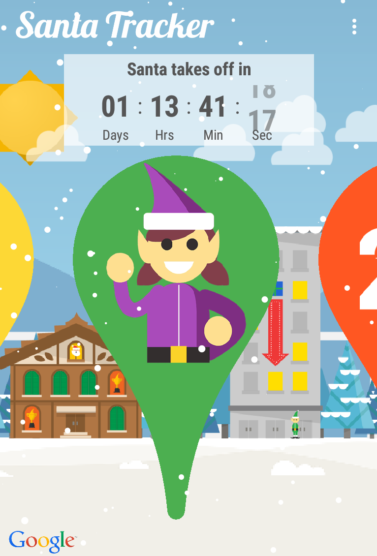 Santa Tracker Coloring With How To Track S Christmas Eve Journey From Any Device PCWorld