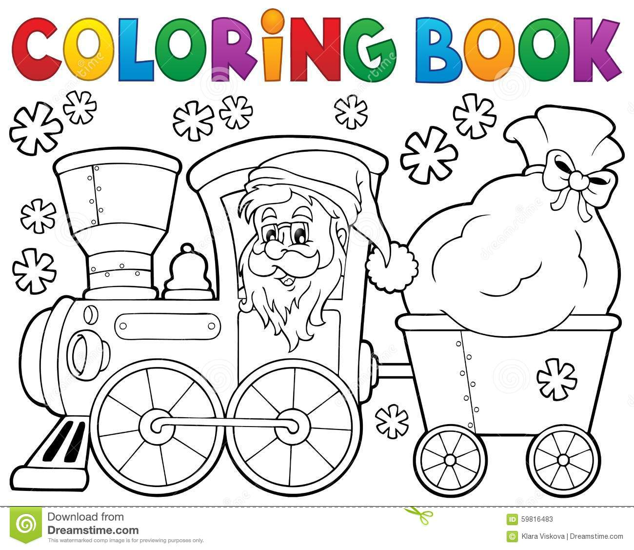 Santa Train Coloring Page With Free Christmas Pages