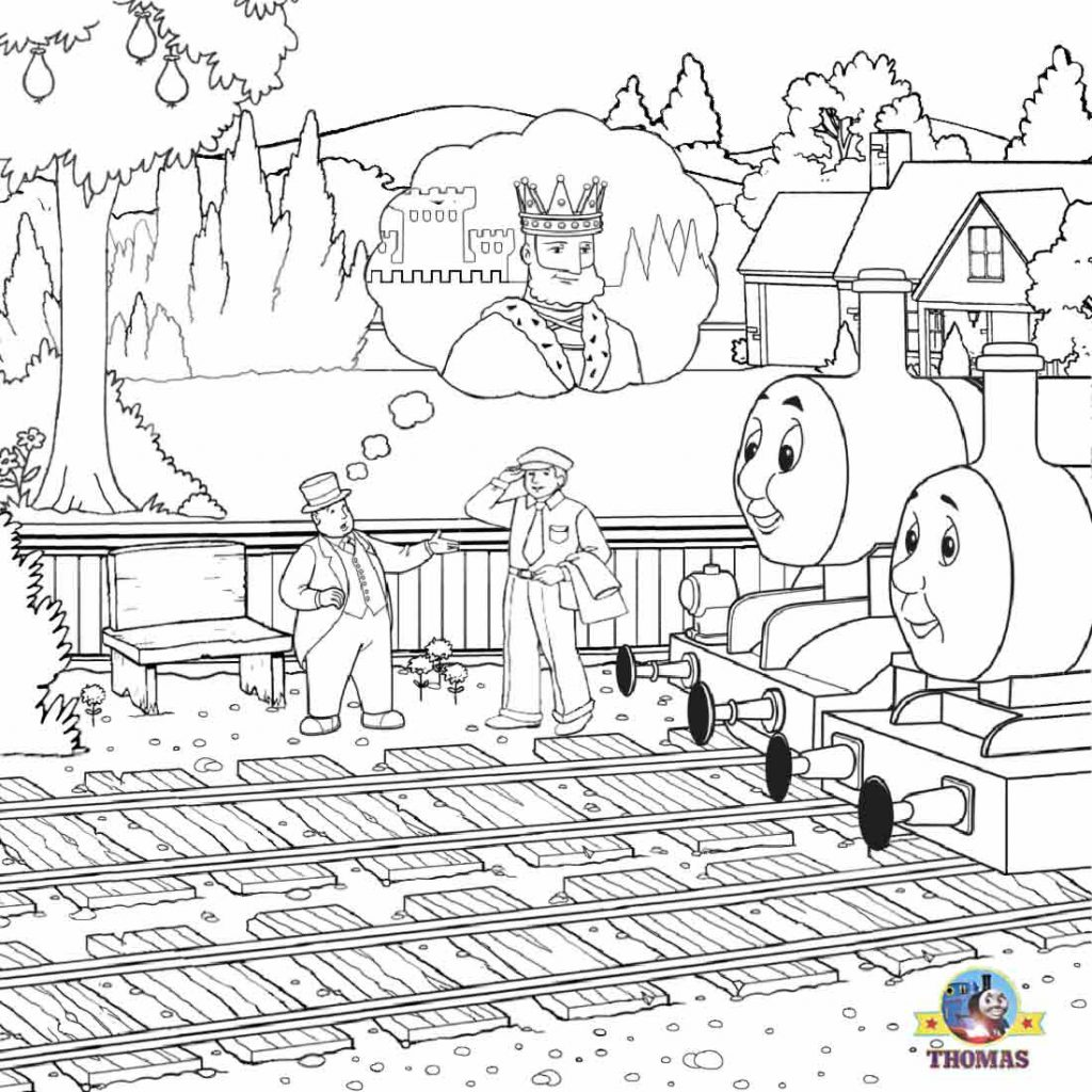 Santa Train Coloring Page With LETS COLORING BOOK Thomas Tank The Steam Engine