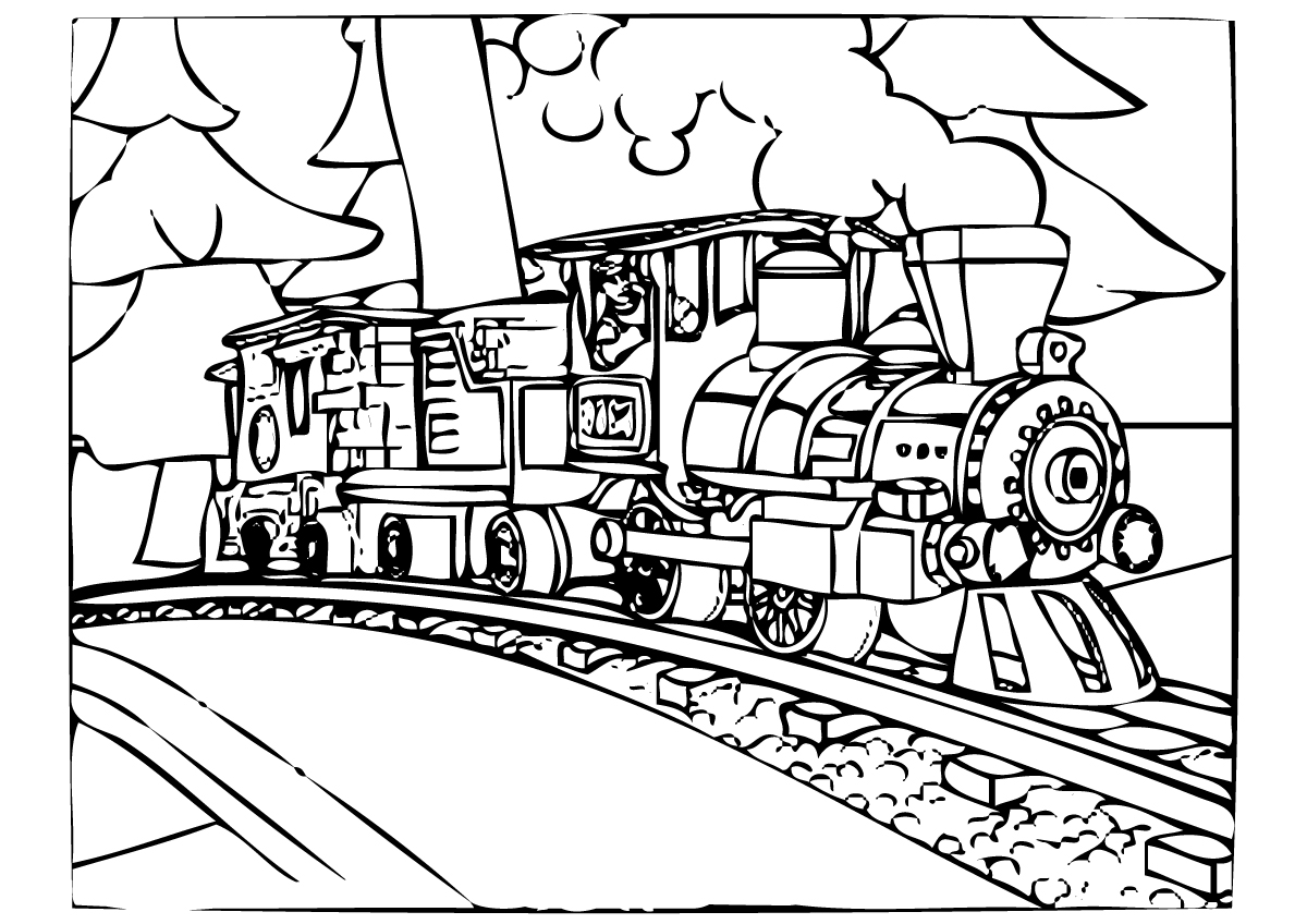 Santa Train Coloring Page With Polar Express Pages Best For Kids
