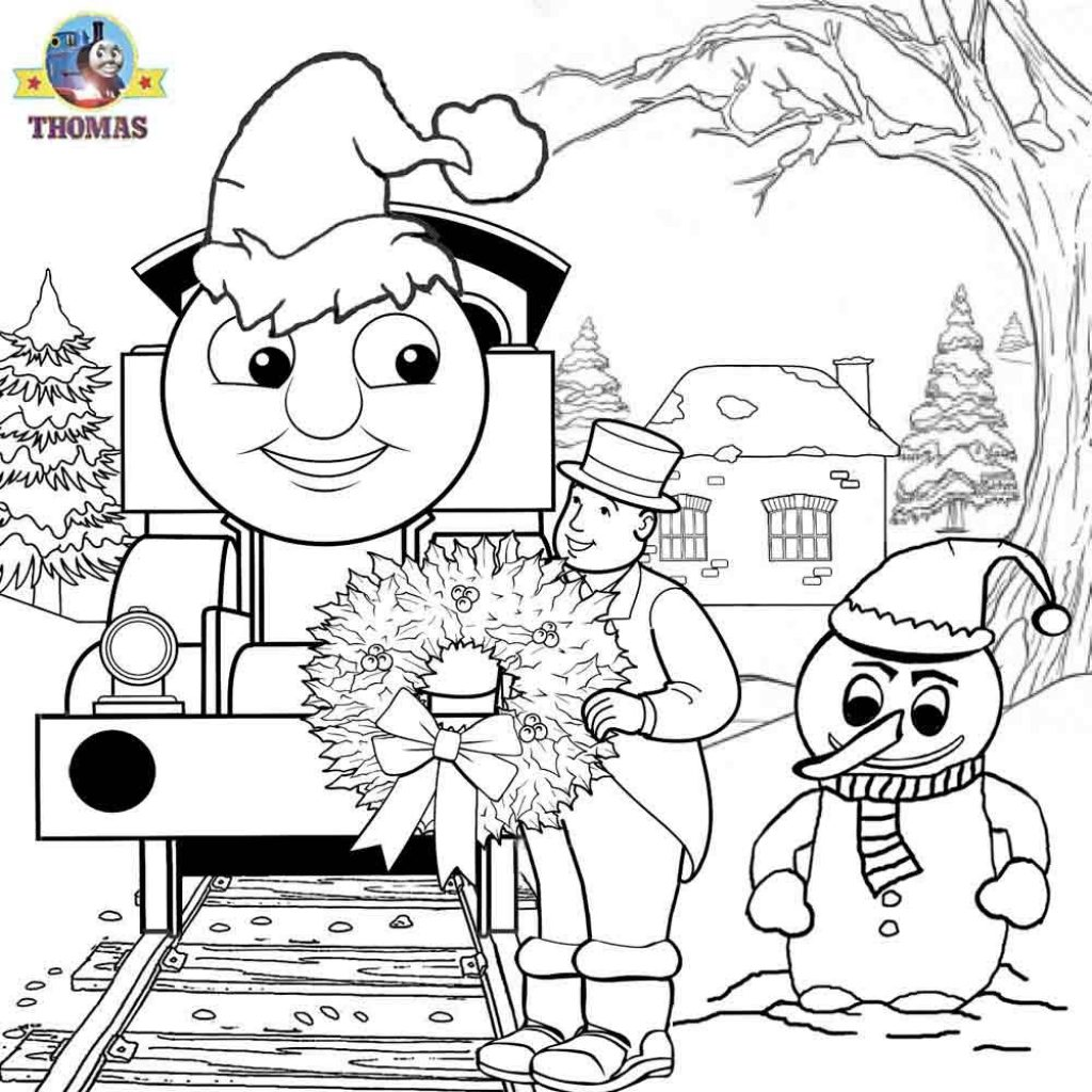 Santa Train Coloring Page With Thomas And Friends Pages