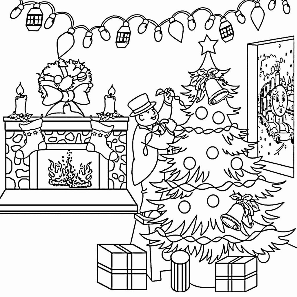 Santa Train Coloring Page With Thomas Pages Printable