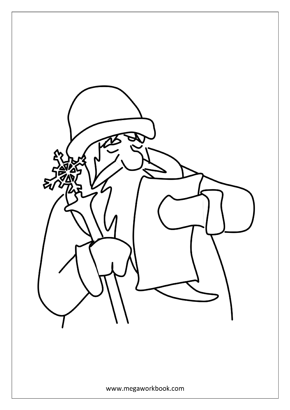 Santa Wish List Coloring Pages With Free Printable Christmas For Kindergarten And