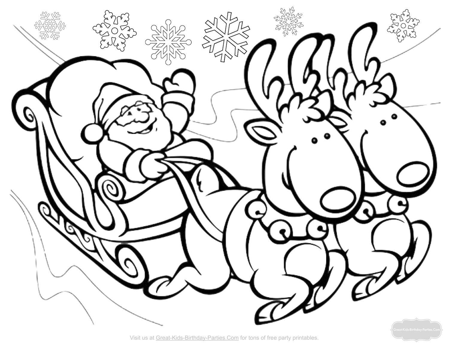 Santa Wreath Coloring Pages With Christmas