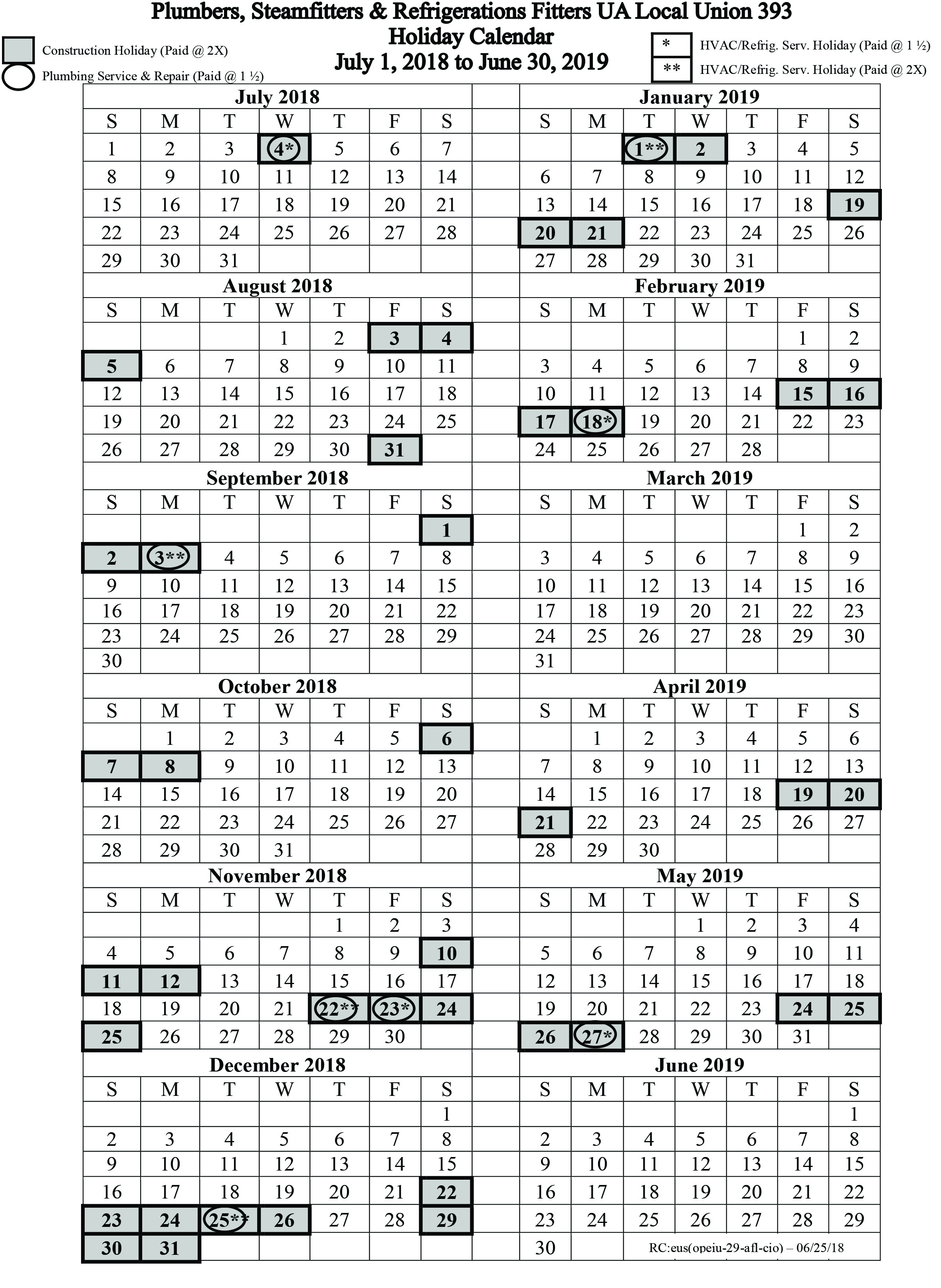 School Calendar Year 2019 Mauritius With July 1 2018 June 30 Holiday Local 393