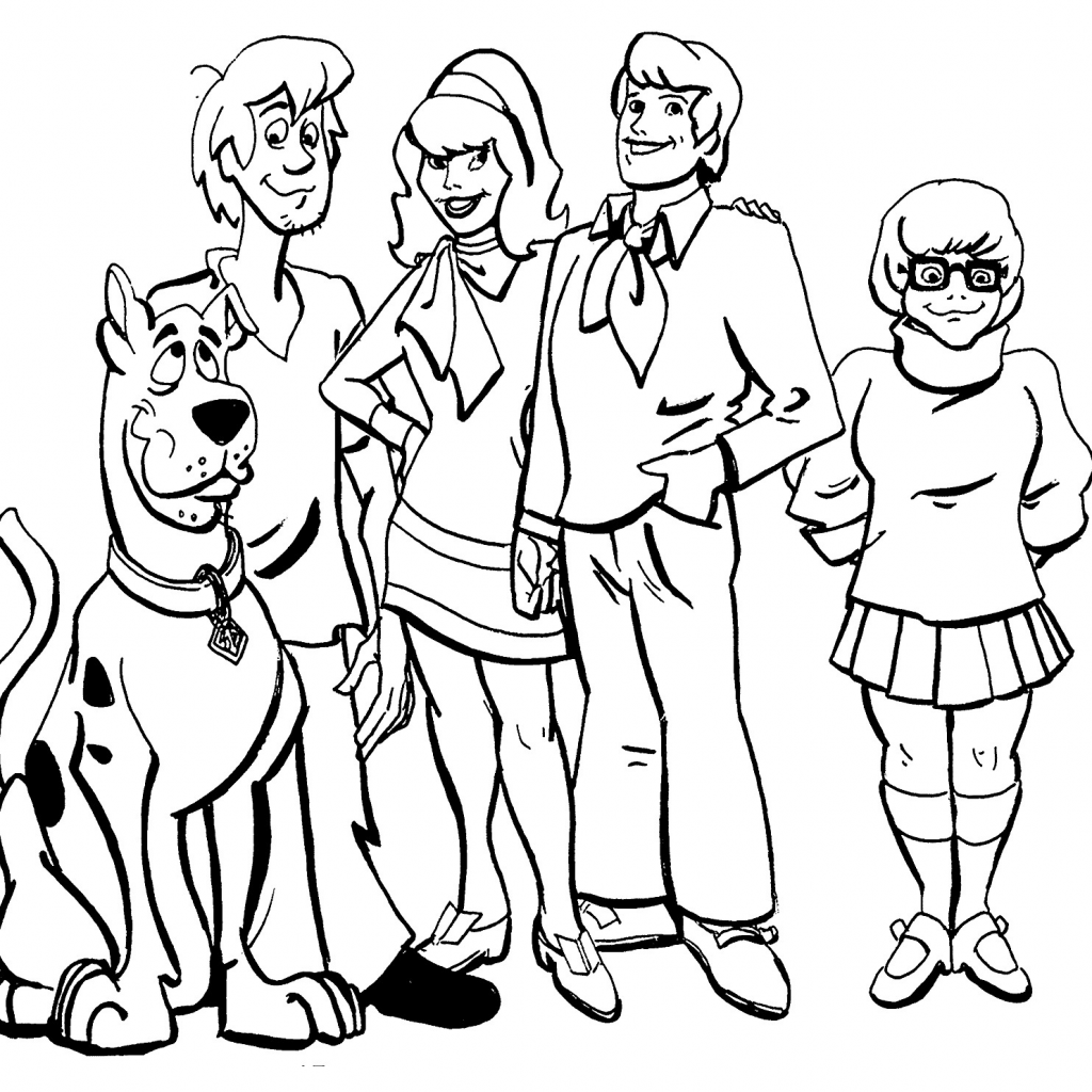 Scooby Doo Christmas Coloring Pages Printable With Colouring Archives Forensicstore Us