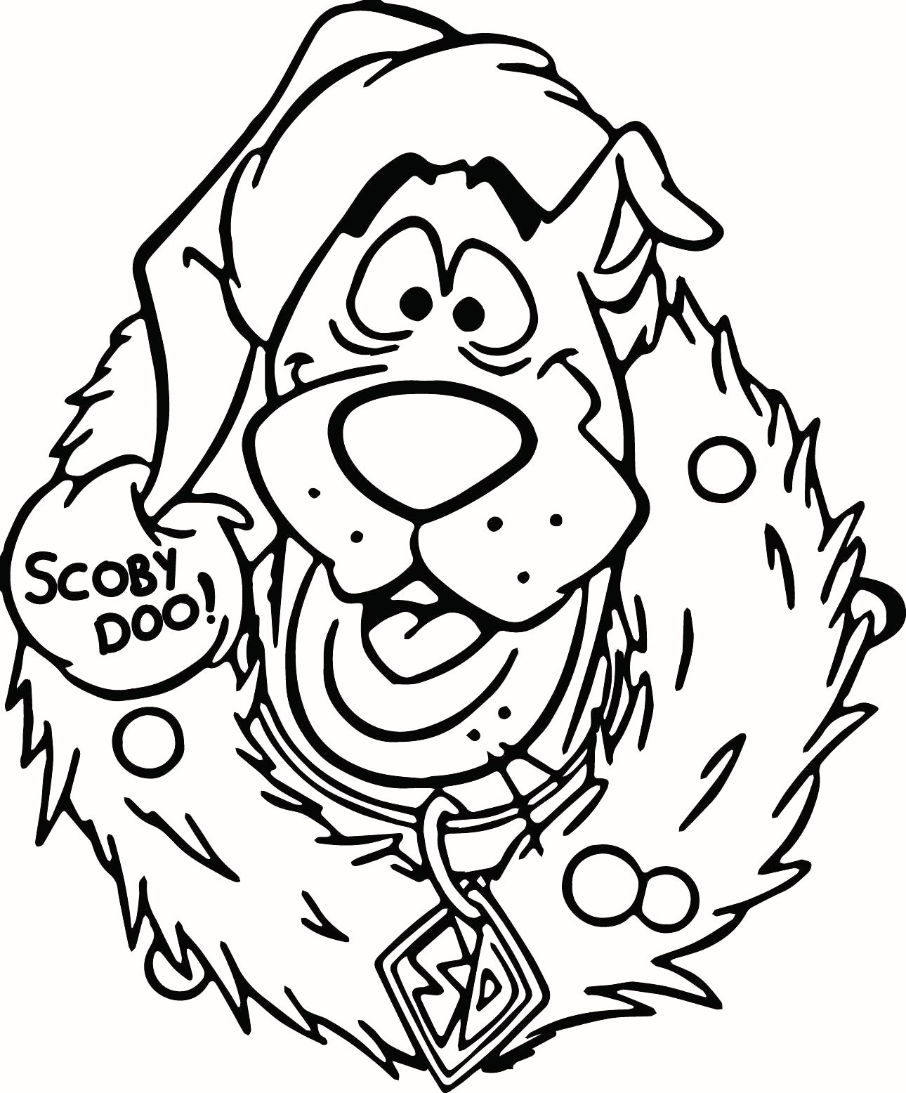 Scooby Doo Christmas Coloring Pages Printable With Lovely CrosbyAndCosg