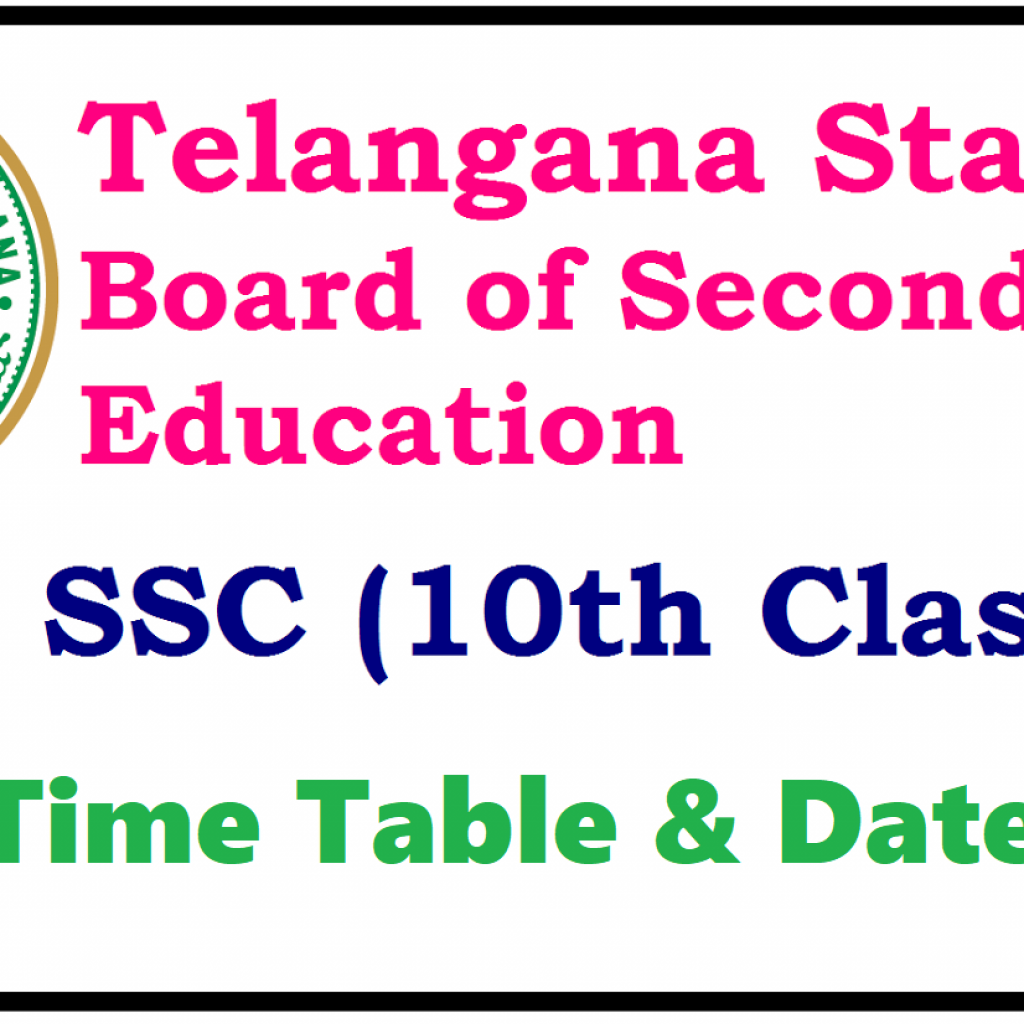 Ssc Year Calendar 2019 With TS SSC Timetable Manabadi 10th Class Exam Date