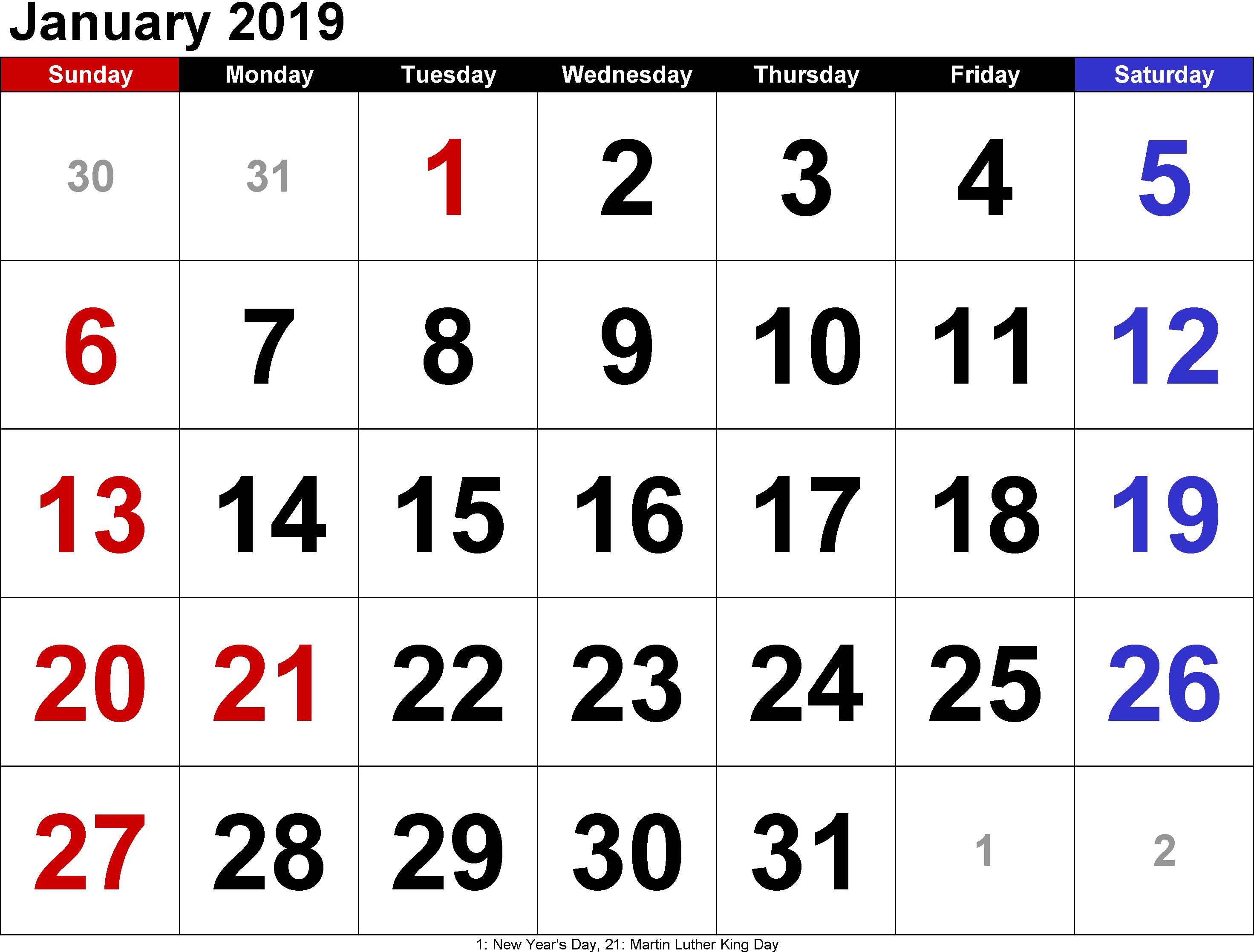 Tamil New Year 2019 Calendar With January Printable Free Templates