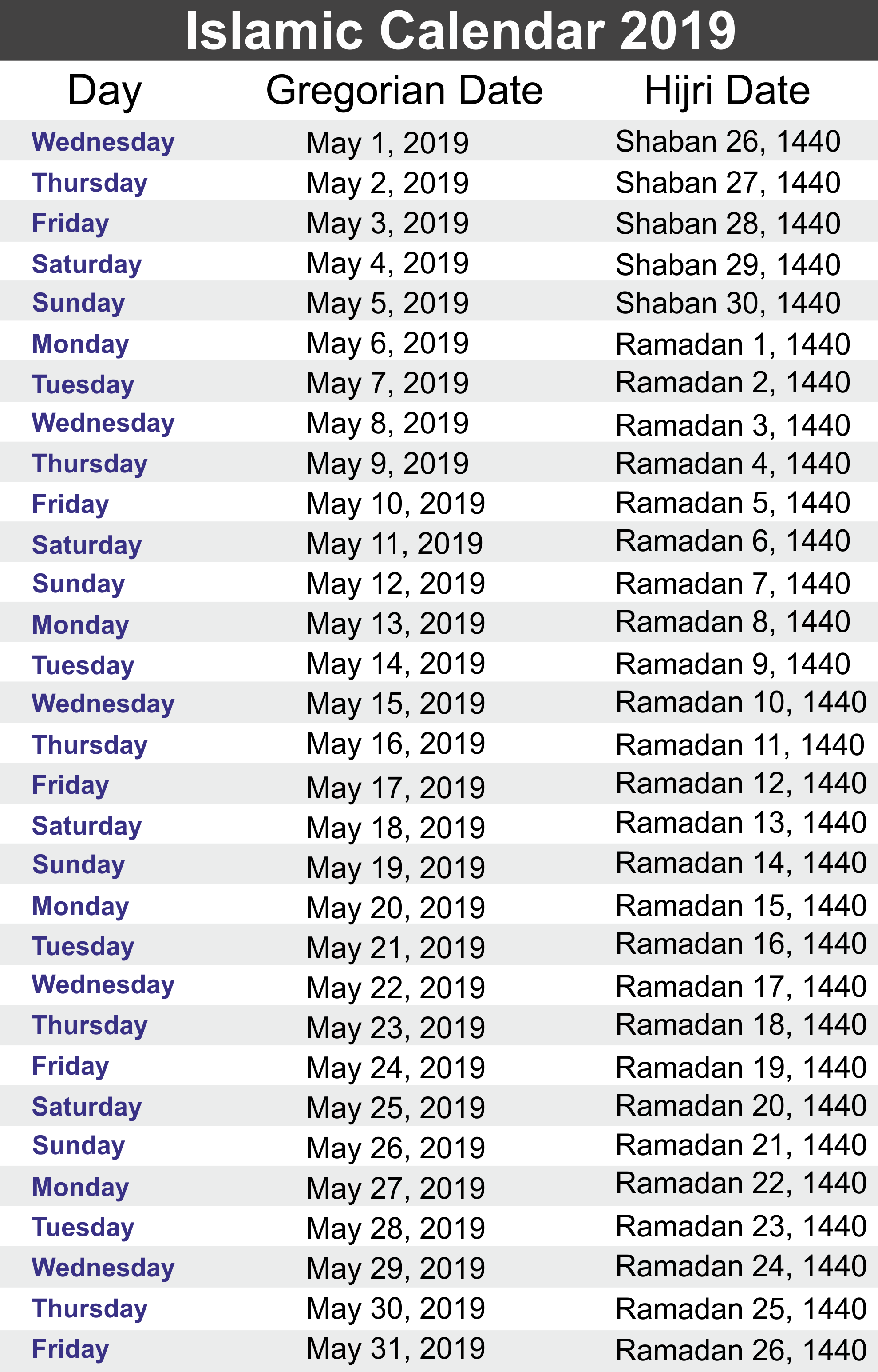Tamil New Year 2019 Calendar With Yearly Islamic Hijri Public Holidays 2018