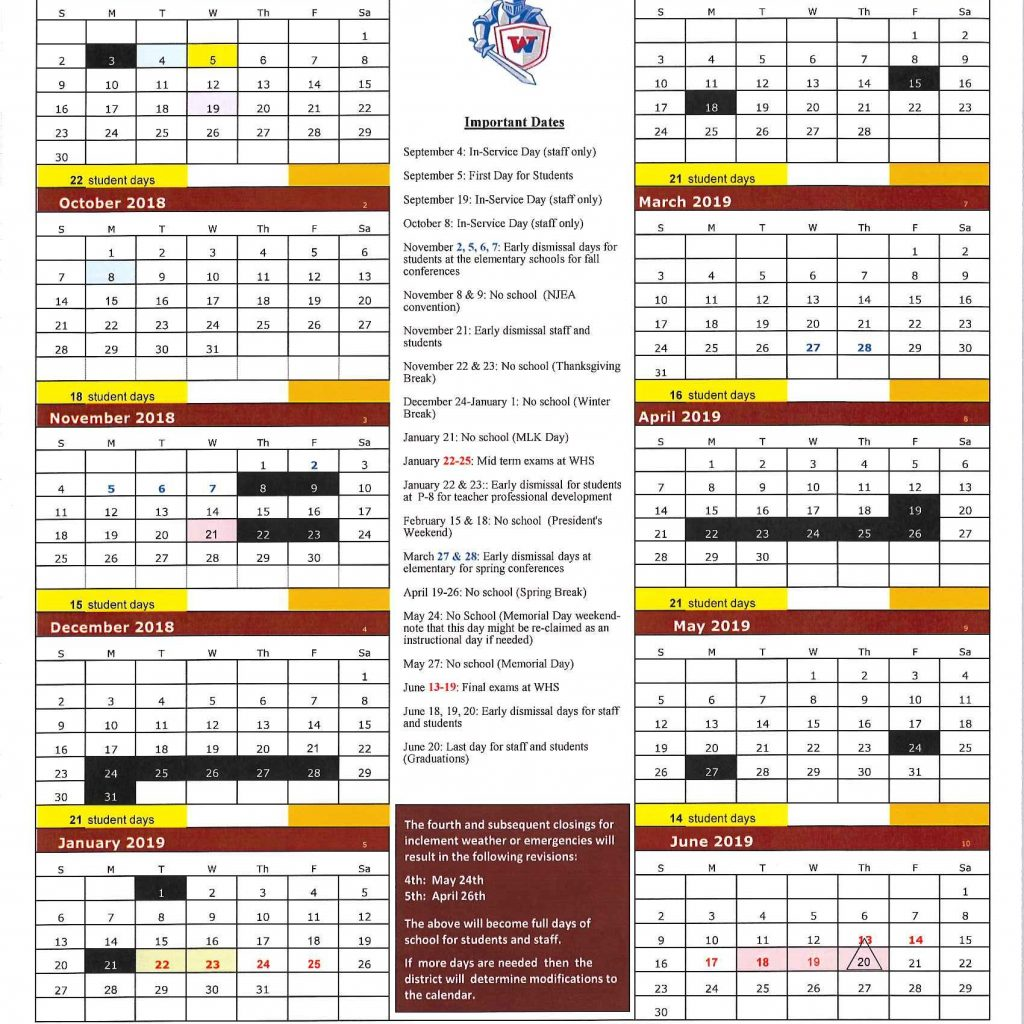 Tamil Year Calendar 2019 With Approved 2018 District Allenwood Elementary