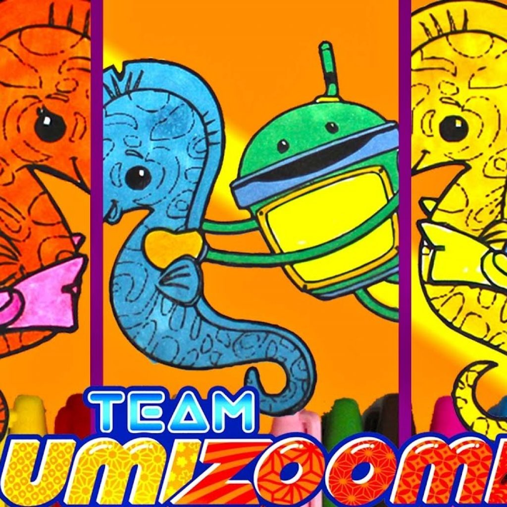 Team Umizoomi Christmas Coloring Pages With And Sea Horse Page