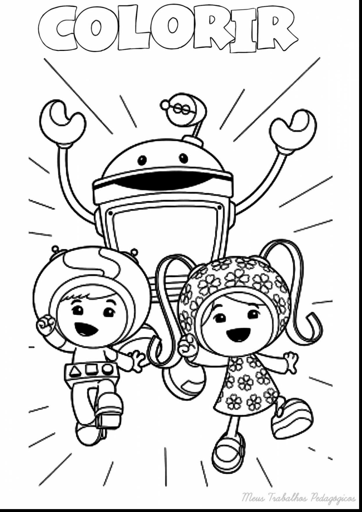 Team Umizoomi Christmas Coloring Pages With Collection Free Books