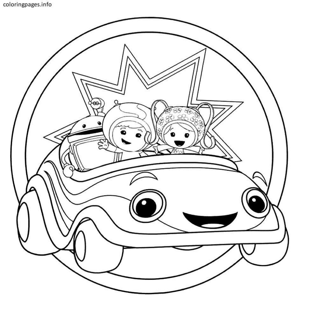 Team Umizoomi Christmas Coloring Pages With Free Pinterest