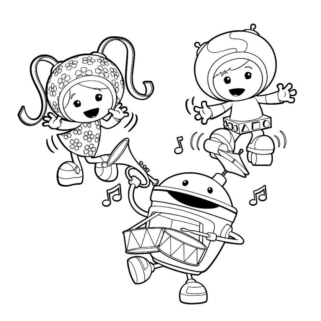 Team Umizoomi Christmas Coloring Pages With Free Printable For Kids