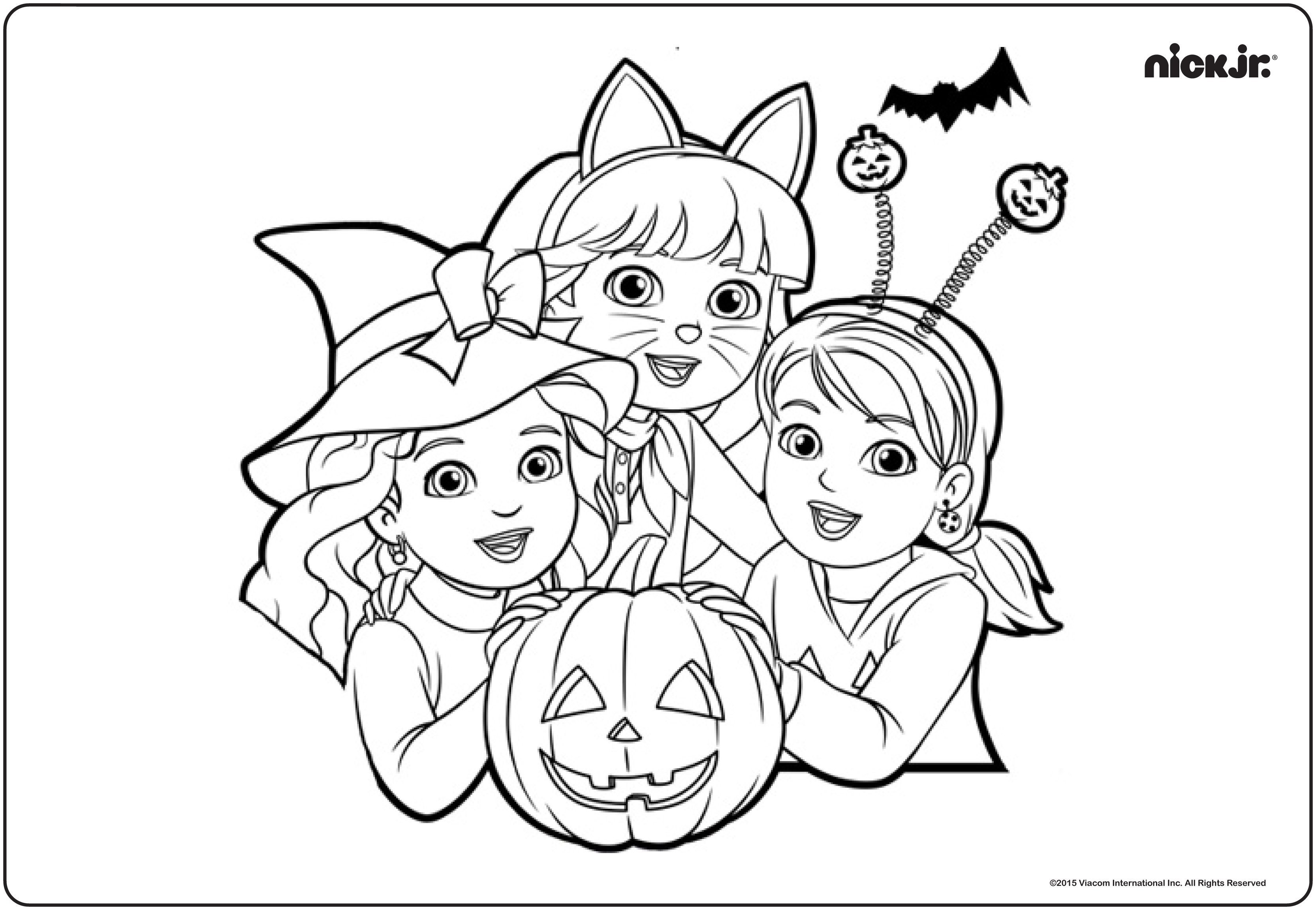 Team Umizoomi Christmas Coloring Pages With New Simple Nick Jr Printables Strange