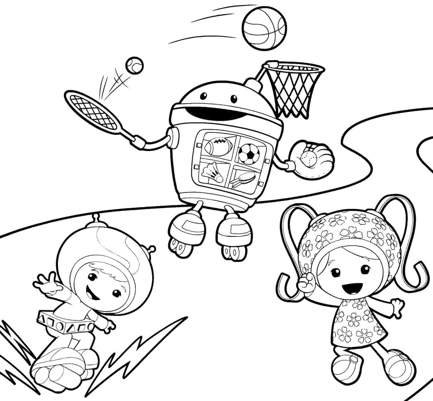 Team Umizoomi Christmas Coloring Pages With Printable Nick Jr Printables