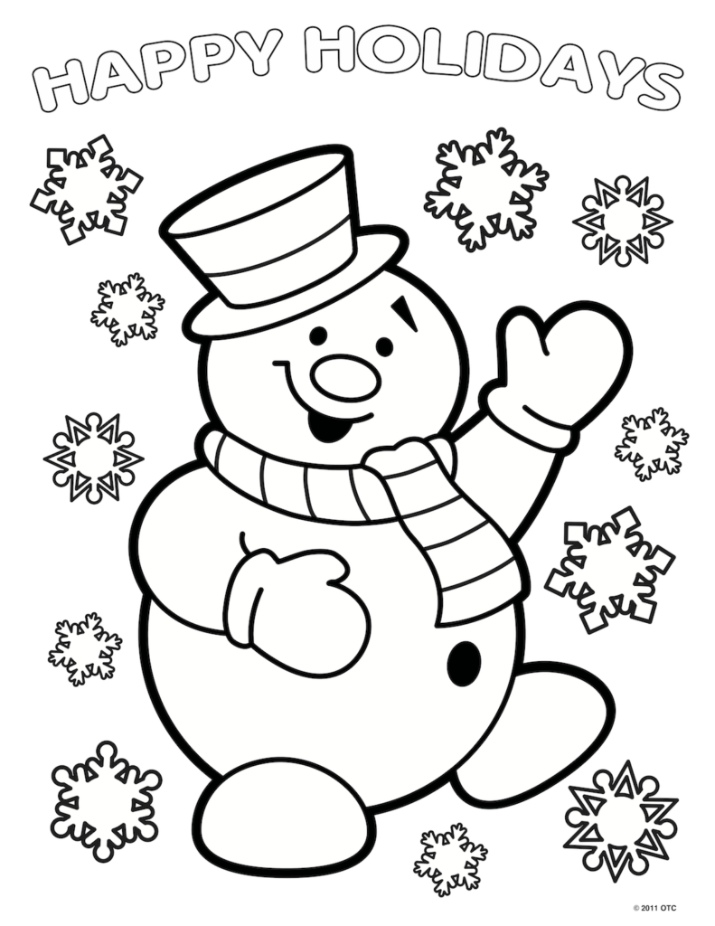 These Fun Christmas Santa Claus Coloring Pages With