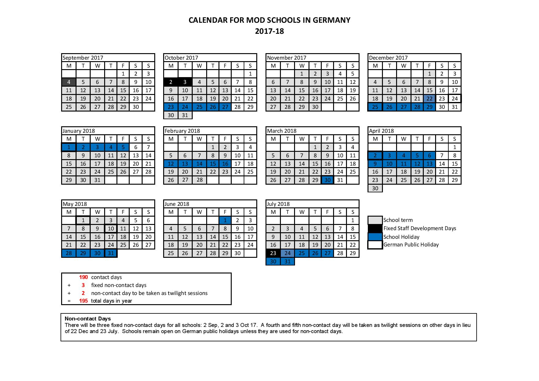 Total 2019 Calendar Year Working Days With Term Dates Attenborough School