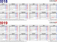 Two Year Calendar 2019 And 2020 With 3 2018 To Calendars For
