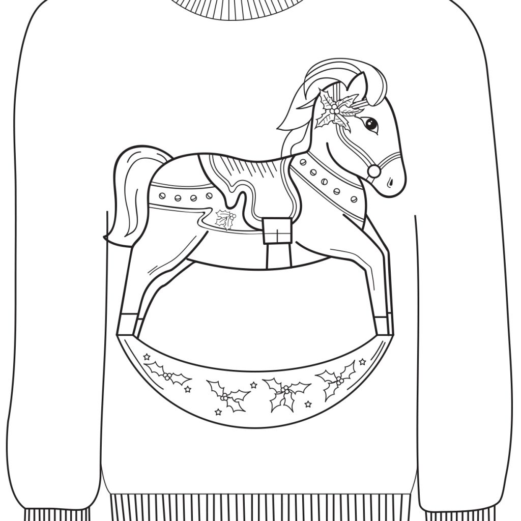 Ugly Christmas Sweater Coloring Pages With Sheets Ragstock