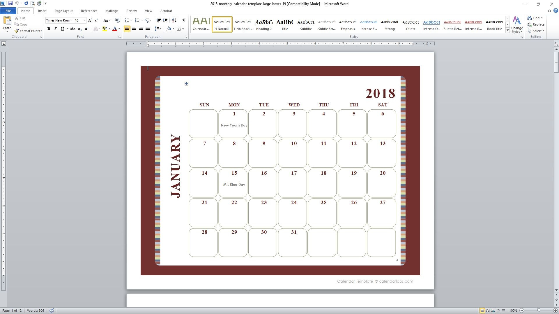 Upsc Year Calendar 2019 With Exam Pdf 89 Free Templates For 2018 And