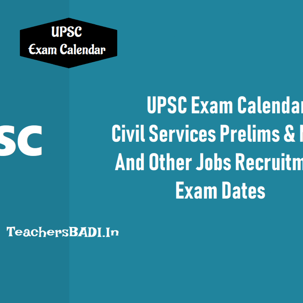 Upsc Year Calendar 2019 With UPSC Exam Civil Services Prelims On 2nd June Mains