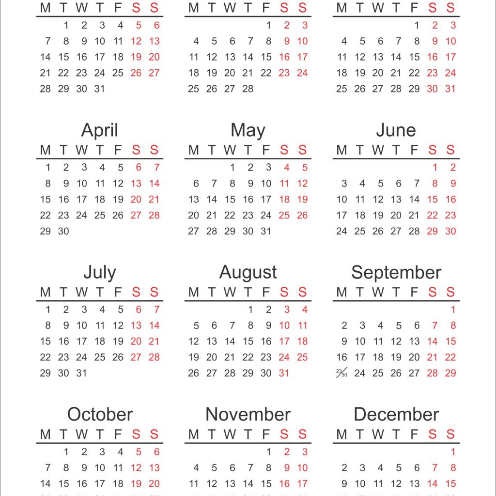 Us Fiscal Year 2019 Calendar With Federal Holidays Printable Template