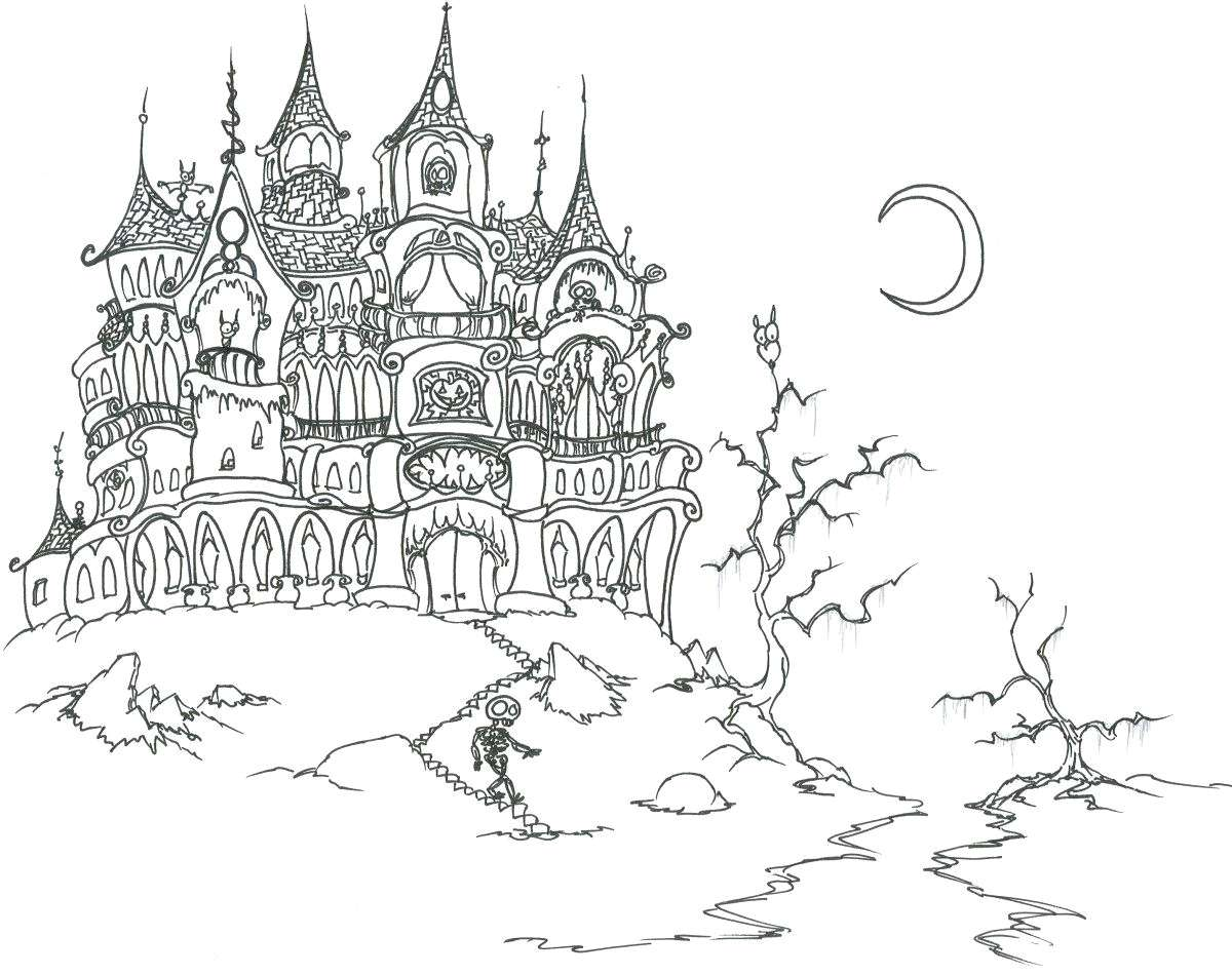 Vampire Christmas Coloring Pages With Ghost Pictures To Color Greatest Adult