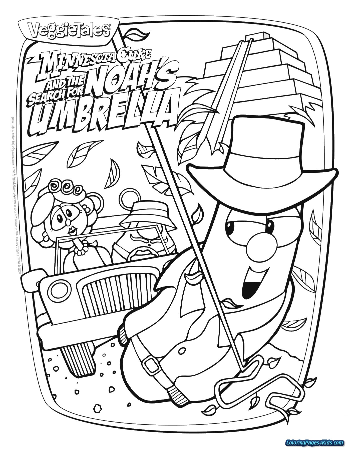 Veggie Tales Christmas Coloring Pages With Easter For Kids