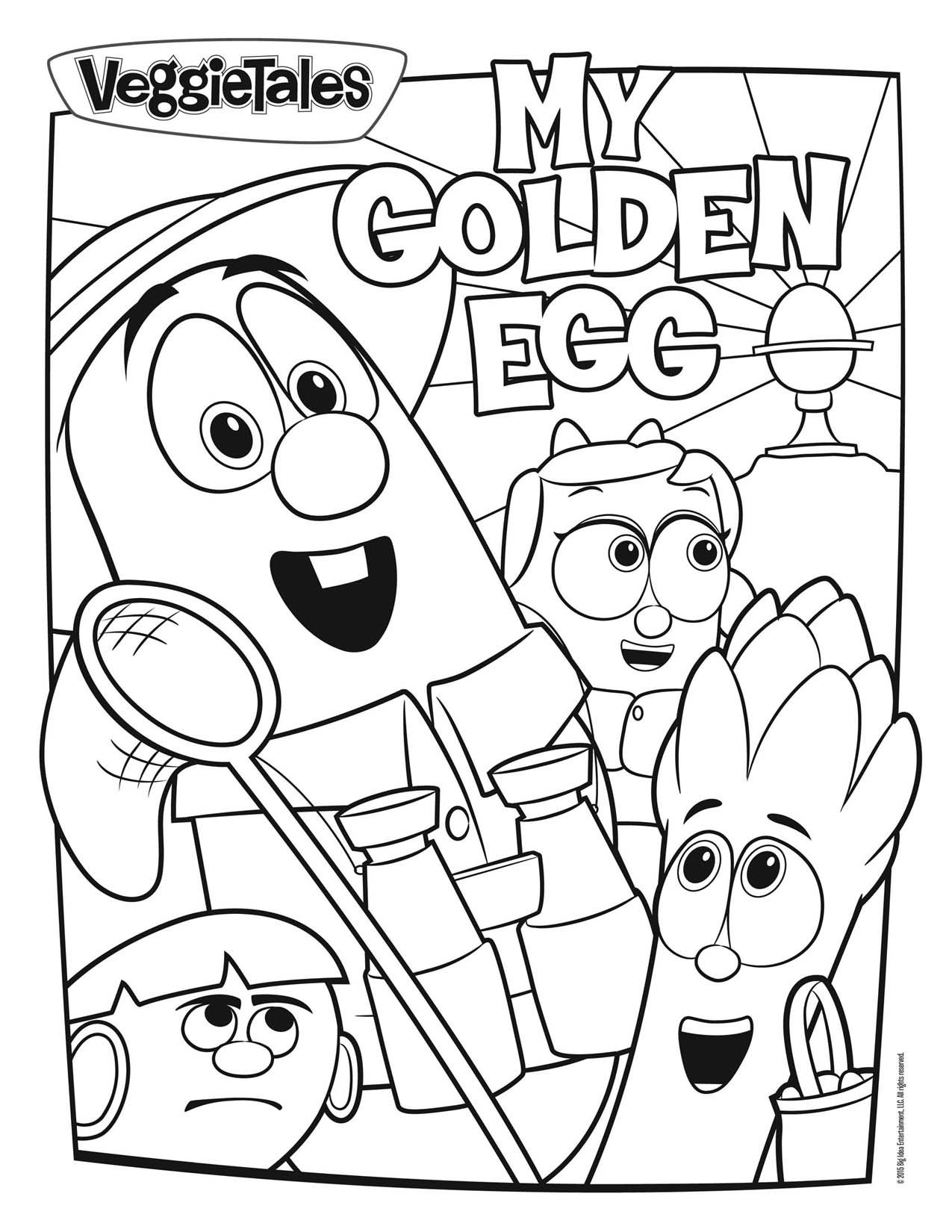 Veggie Tales Christmas Coloring Pages With My Gold Egg Noah S Ark Page The Incredible Superhero