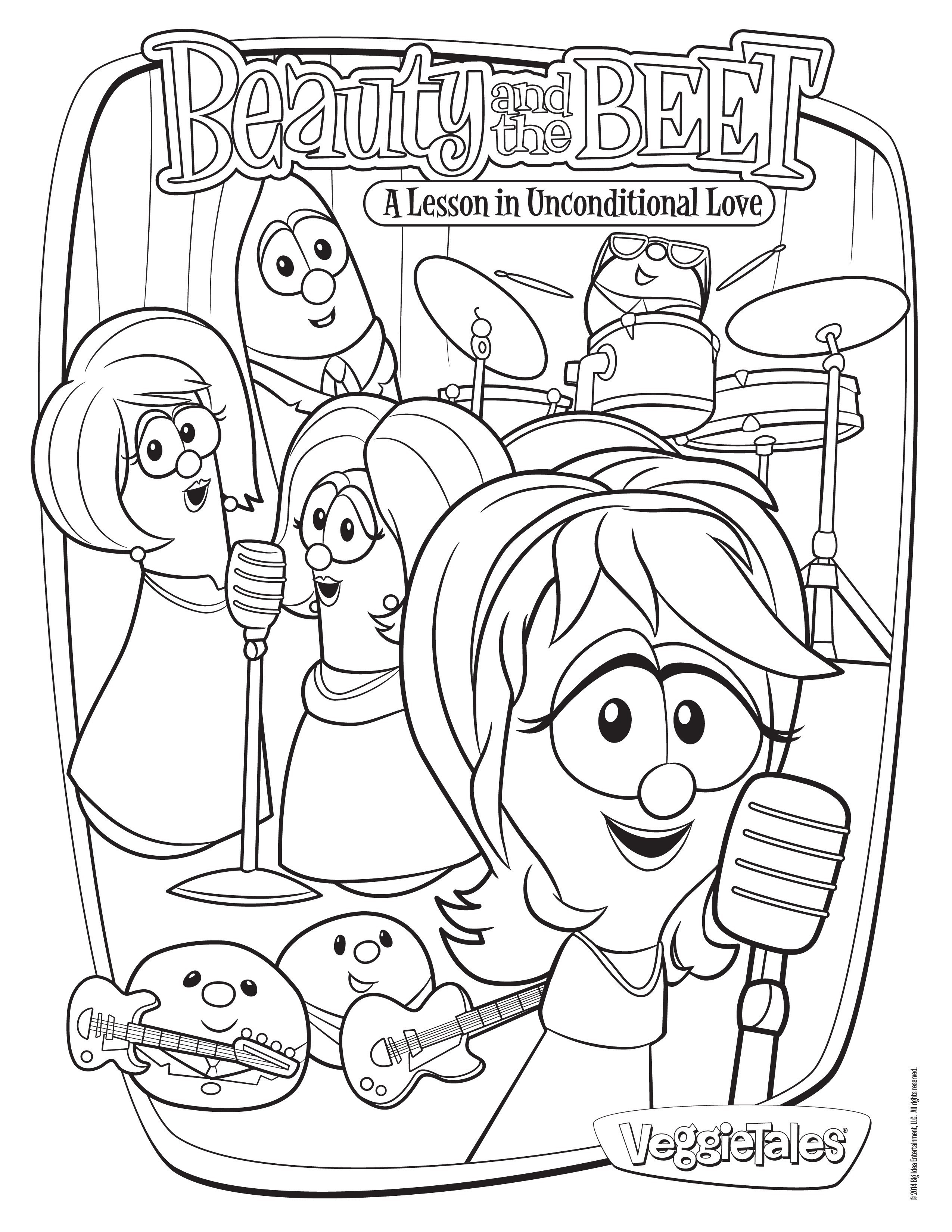 Veggie Tales Christmas Coloring Pages With Sheets Save