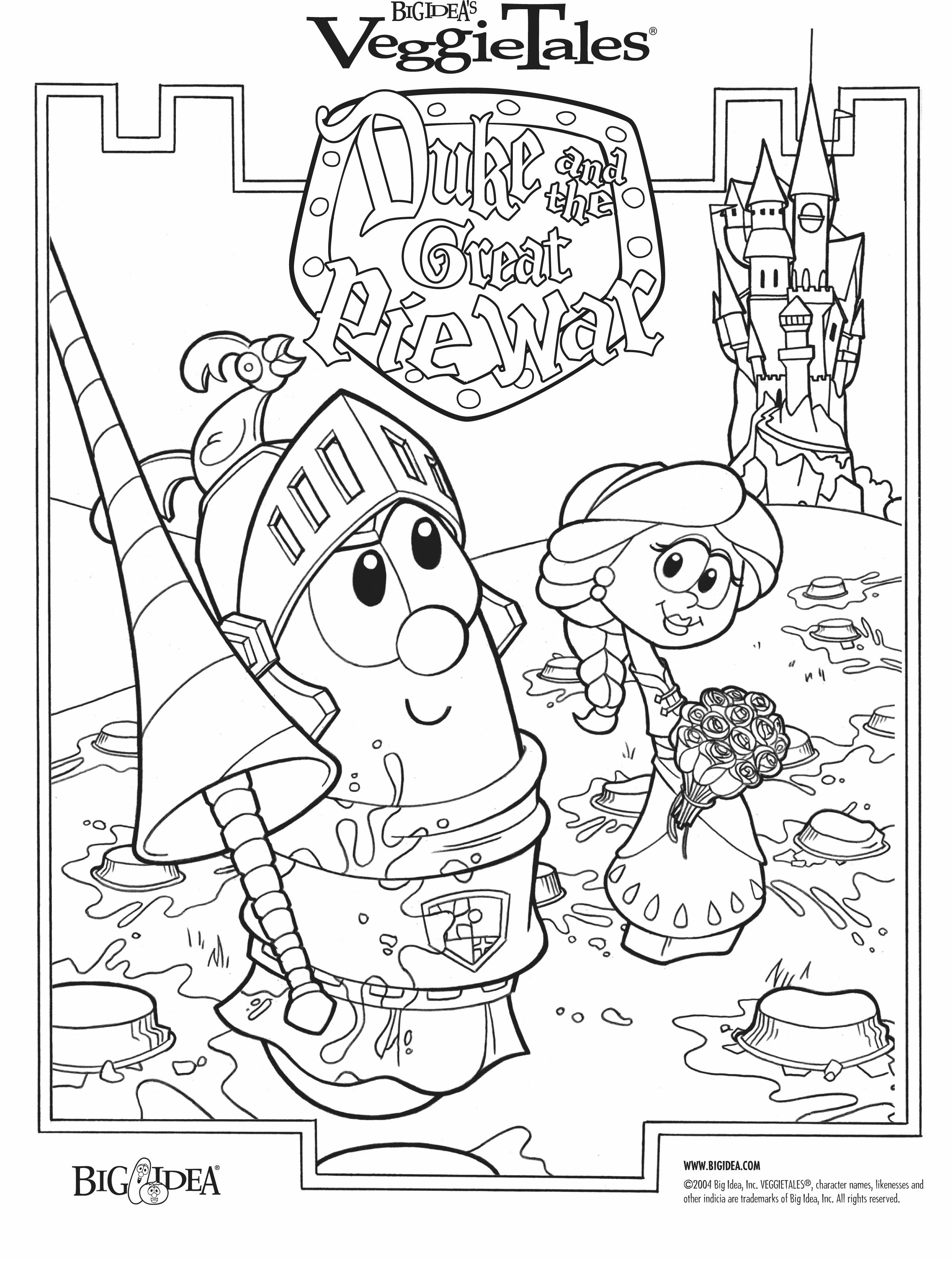 Veggie Tales Christmas Coloring Pages With VeggieTales Duke And The Great Pie War Veg O Rama Jukebox Sing Along