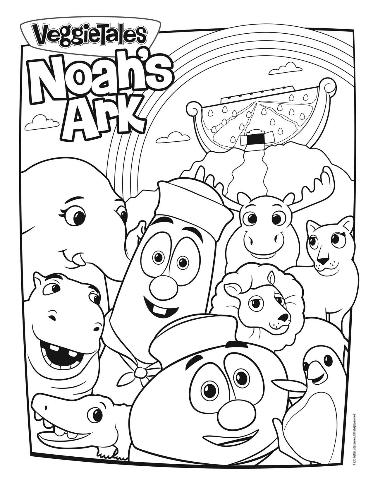 Veggie Tales Christmas Coloring Pages With VeggieTales Noah S Ark Page Pinterest