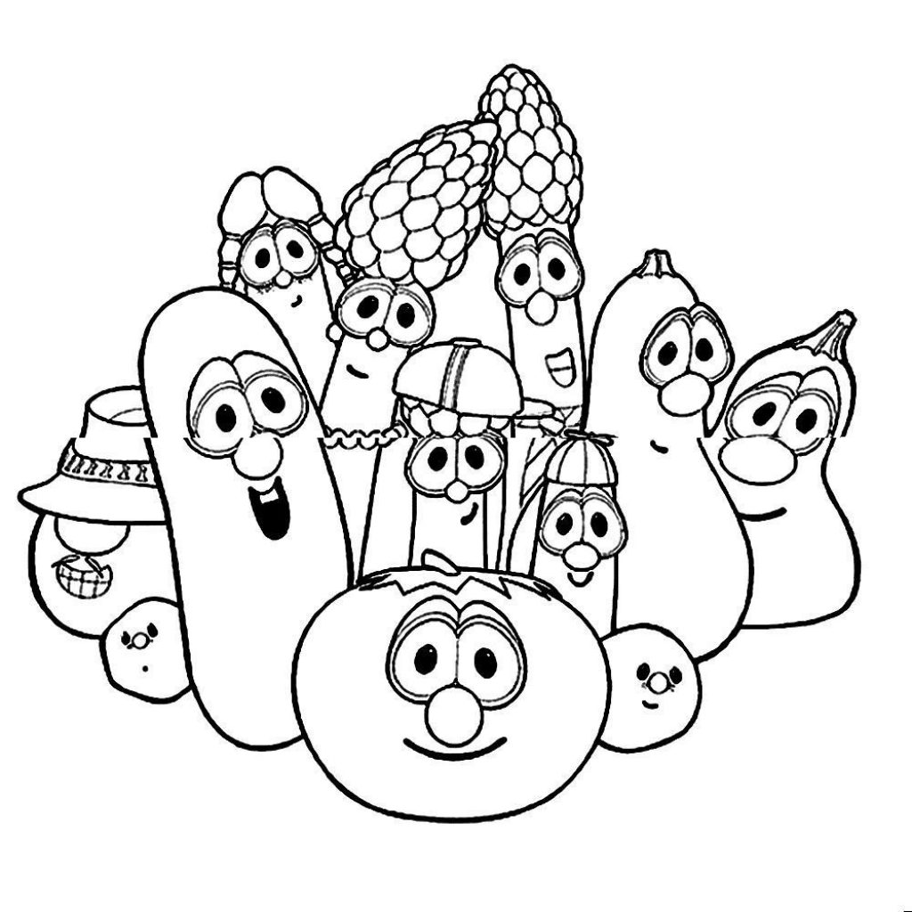Veggie Tales Christmas Coloring Pages With Veggietales Page Free Library