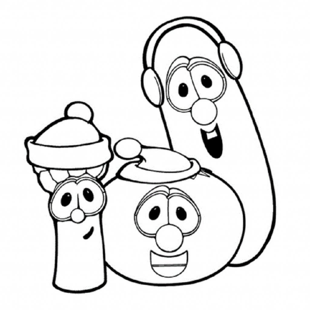 Veggie Tales Christmas Coloring Pages With Wallpapers Mayapurjacouture Com At