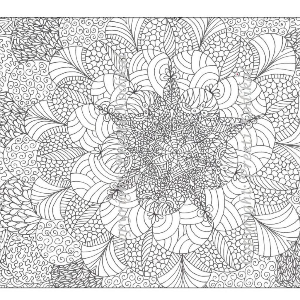 Very Detailed Christmas Coloring Pages With Free Printable Abstract For Adults