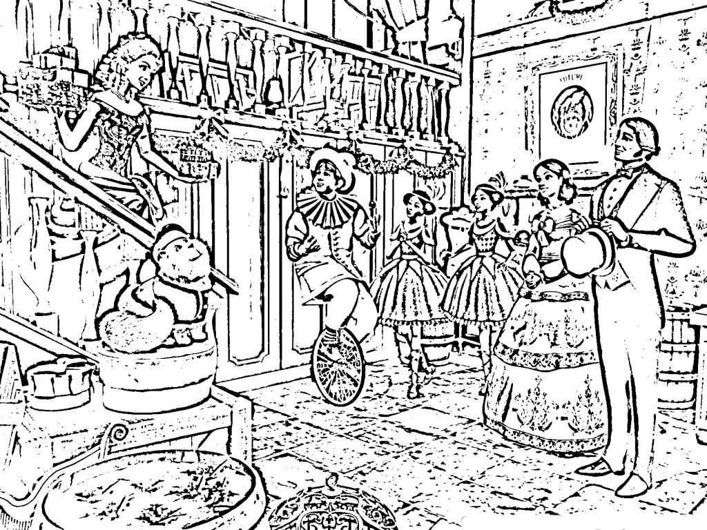 Very Detailed Christmas Coloring Pages With Hard Best Valid