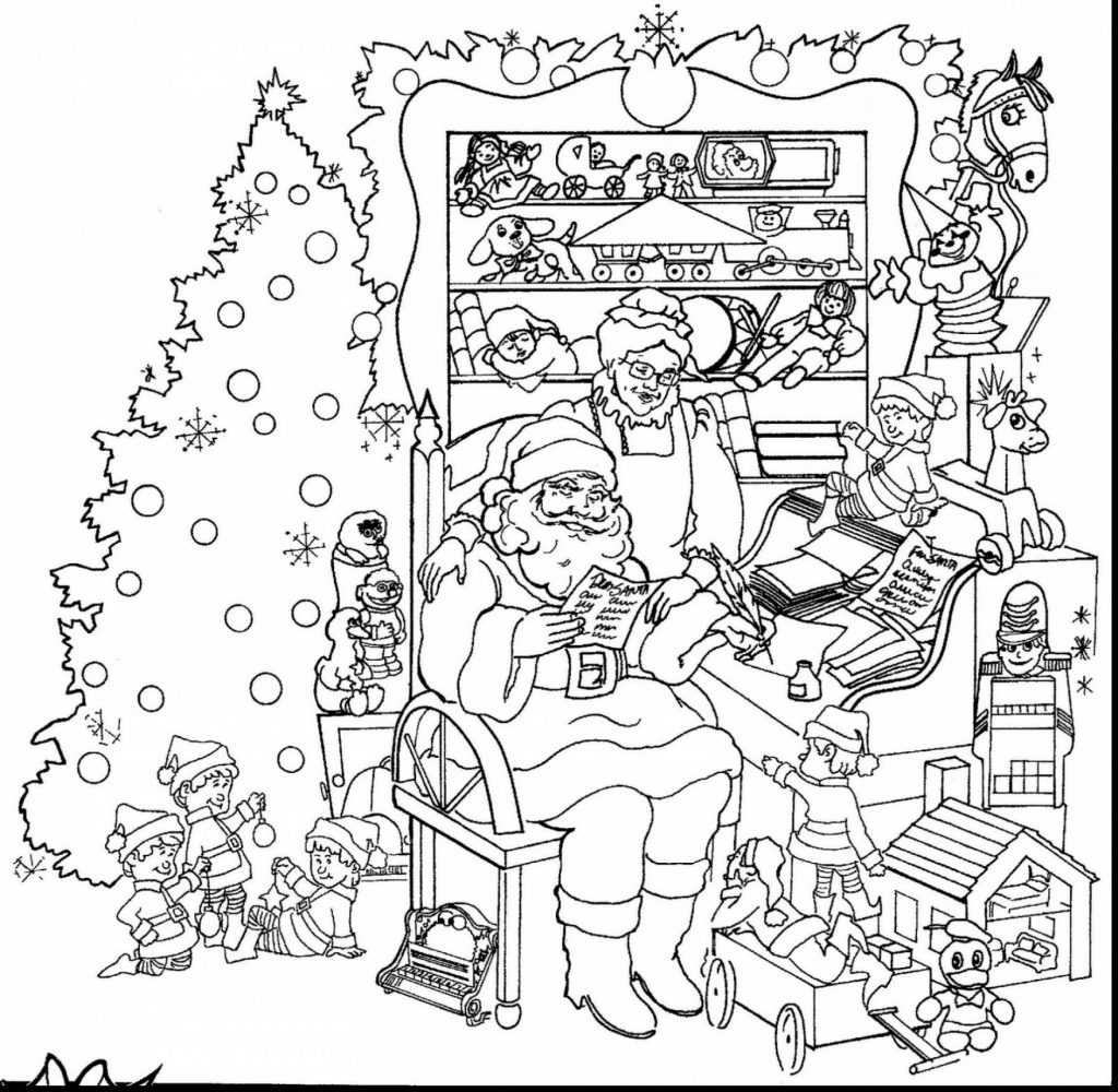 Very Detailed Christmas Coloring Pages With Save Hard Dr