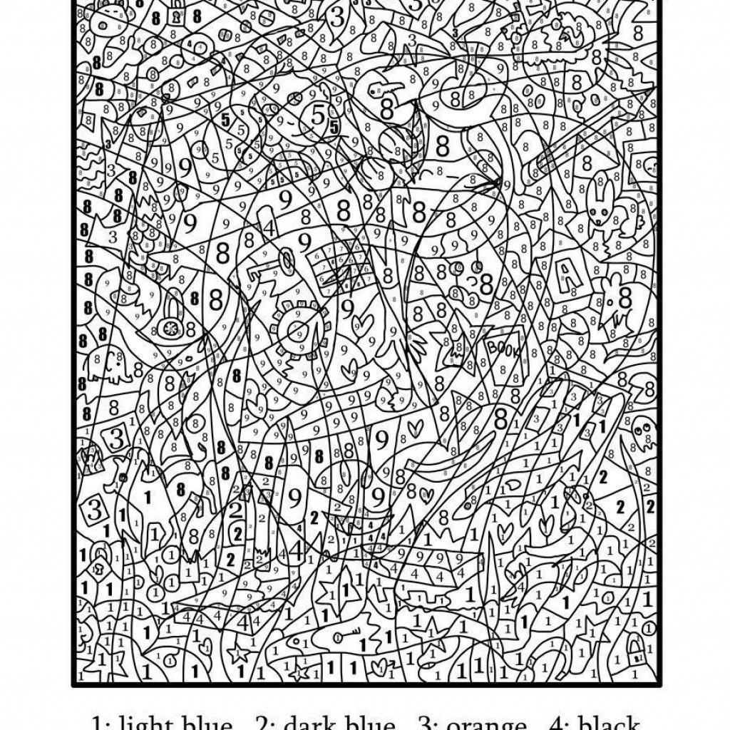 Very Hard Christmas Coloring Pages With Print Really Difficult Color By Number For Adults