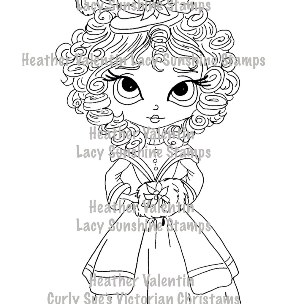 Victorian Christmas Coloring Book With Curly Sue