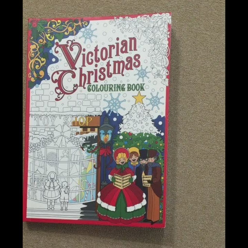 Victorian Christmas Coloring Book With Flip Through YouTube