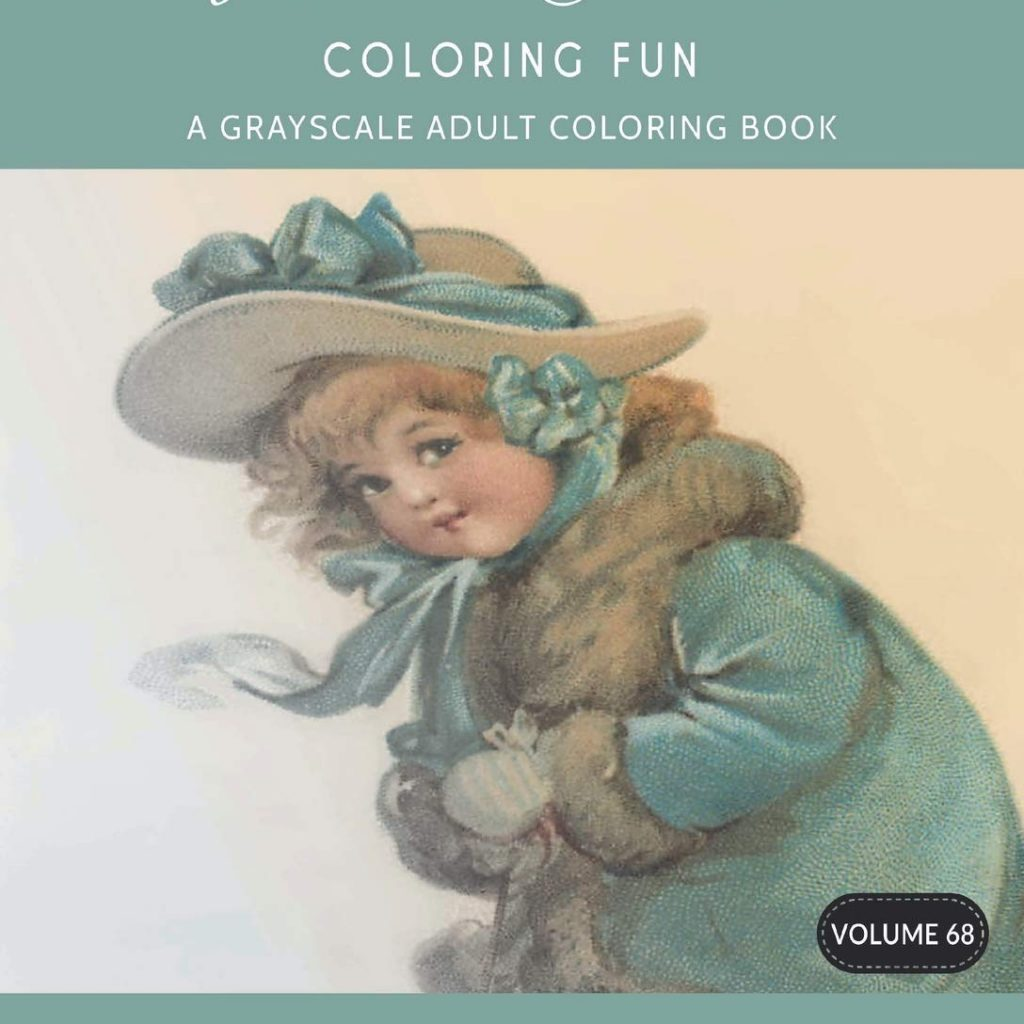 Victorian Christmas Coloring Book With Fun A Grayscale Adult